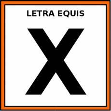LETRA EQUIS (MAYÚSCULA) - Pictograma (color)