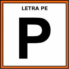 LETRA PE (MAYÚSCULA) - Pictograma (color)