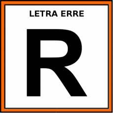 LETRA ERRE (MAYÚSCULA) - Pictograma (color)