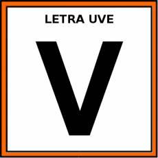 LETRA UVE (MAYÚSCULA) - Pictograma (color)