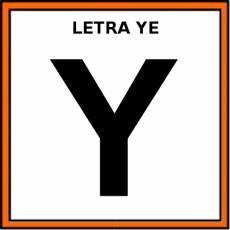 LETRA YE (MAYÚSCULA) - Pictograma (color)