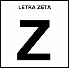 LETRA ZETA (MAYÚSCULA) - Pictograma (blanco y negro)