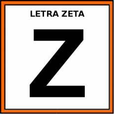 LETRA ZETA (MAYÚSCULA) - Pictograma (color)