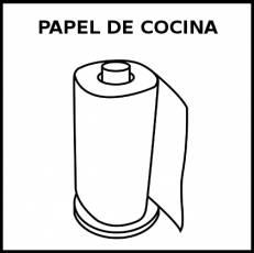 PAPEL DE COCINA - Pictograma (blanco y negro)