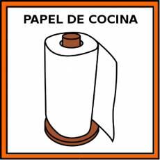 PAPEL DE COCINA - Pictograma (color)