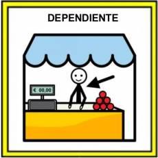 DEPENDIENTE (PROFESIÓN) - Pictograma (color)