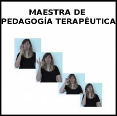 MAESTRA DE PEDAGOGÍA TERAPÉUTICA - Signo