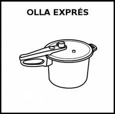 OLLA EXPRÉS - Pictograma (blanco y negro)