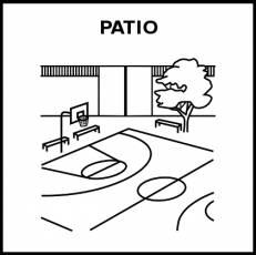PATIO - Pictograma (blanco y negro)