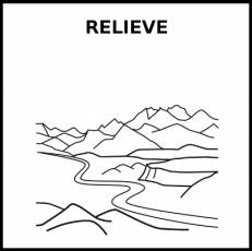 RELIEVE - Pictograma (blanco y negro)