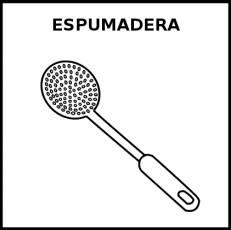 ESPUMADERA - Pictograma (blanco y negro)