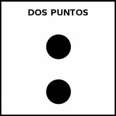 DOS PUNTOS - Pictograma (blanco y negro)