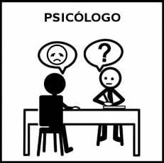 PSICÓLOGO - Pictograma (blanco y negro)
