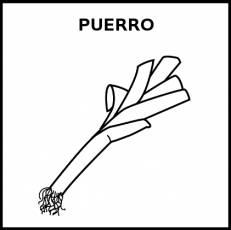PUERRO - Pictograma (blanco y negro)