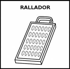 RALLADOR - Pictograma (blanco y negro)