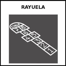 RAYUELA - Pictograma (blanco y negro)