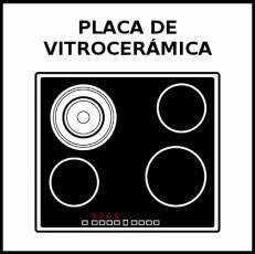 PLACA DE VITROCERÁMICA - Pictograma (blanco y negro)