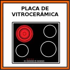 PLACA DE VITROCERÁMICA - Pictograma (color)