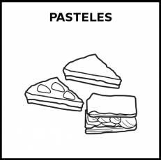 PASTELES - Pictograma (blanco y negro)