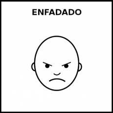 ENFADADO - Pictograma (blanco y negro)