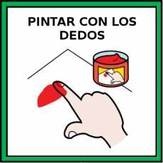 PINTAR CON LOS DEDOS - Pictograma (color)