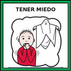 TENER MIEDO - Pictograma (color)