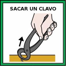 SACAR UN CLAVO - Pictograma (color)