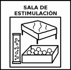 SALA DE ESTIMULACIÓN - Pictograma (blanco y negro)