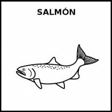 SALMÓN (ANIMAL) - Pictograma (blanco y negro)