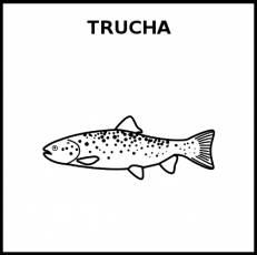 TRUCHA (ANIMAL) - Pictograma (blanco y negro)
