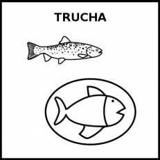 TRUCHA (ALIMENTO) - Pictograma (blanco y negro)