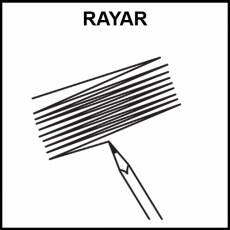 RAYAR - Pictograma (blanco y negro)