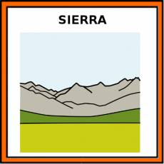 SIERRA (RELIEVE) - Pictograma (color)