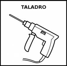 TALADRO - Pictograma (blanco y negro)