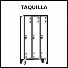 TAQUILLA (MOBILIARIO) - Pictograma (blanco y negro)
