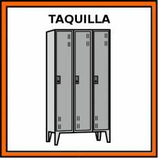 TAQUILLA (MOBILIARIO) - Pictograma (color)
