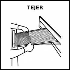 TEJER - Pictograma (blanco y negro)