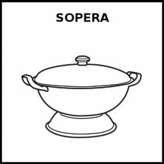 SOPERA - Pictograma (blanco y negro)