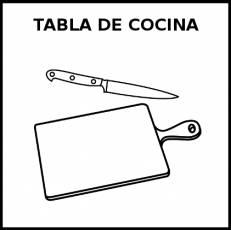 TABLA DE COCINA - Pictograma (blanco y negro)
