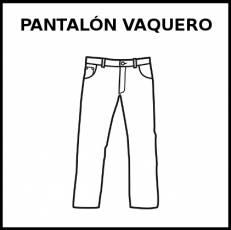PANTALÓN VAQUERO - Pictograma (blanco y negro)