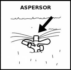 ASPERSOR - Pictograma (blanco y negro)