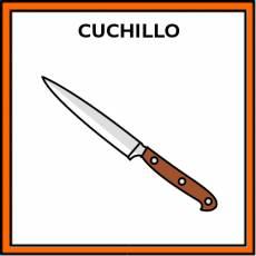 CUCHILLO (DE COCINA) - Pictograma (color)