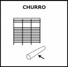 CHURRO (PSICOMOTRICIDAD) - Pictograma (blanco y negro)