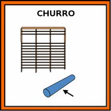 CHURRO (PSICOMOTRICIDAD) - Pictograma (color)