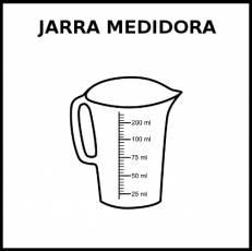 JARRA MEDIDORA - Pictograma (blanco y negro)