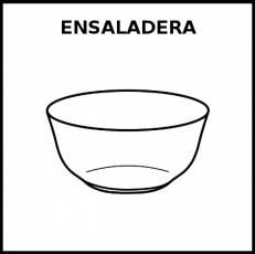 ENSALADERA - Pictograma (blanco y negro)