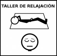 TALLER DE RELAJACIÓN - Pictograma (blanco y negro)