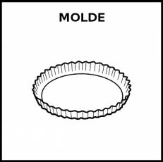 MOLDE (TARTALETA) - Pictograma (blanco y negro)