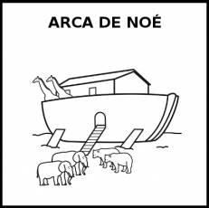 ARCA DE NOÉ - Pictograma (blanco y negro)