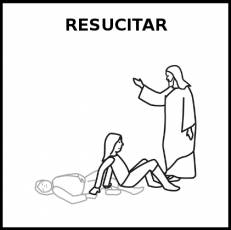 RESUCITAR - Pictograma (blanco y negro)